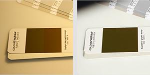 Ocena warunków oświetleniowych za pomocą Pantone Color Checker lighting indicator