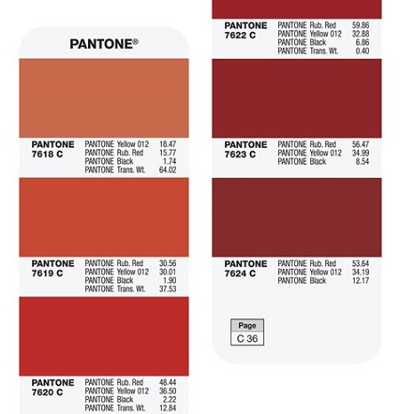 Strony Wzorników Pantone Plus Formula Guide Solid Coated and Uncoated - GP1601A